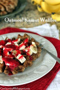 Grain Crazy: Oatmeal Kamut Waffles (Dairy Free)