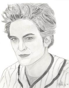 dessin portrait | Edward Cullen Drawing Edward cullen baseball