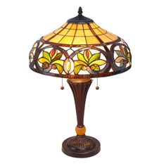 Lmpara de techo tiffany alepo glass stained glass lamps and craft tiffany style stained glass table lamp classic vintage lighting look living room mozeypictures Image collections