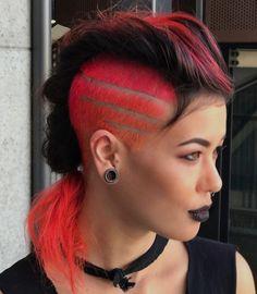 Girl Haircuts, Hairstyles Haircuts, Mohawks, Extreme Hair, Alternative Hair, Hair Color And Cut, Coloured Hair, Fancy Hairstyles, Rainbow Hair