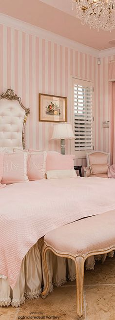 pastel pink and white Beautiful Master Bedroom