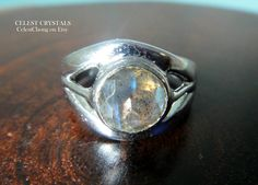 15% OFF Sale! Coupon Code: LIVEJOYOUSLY CÉLEST Crystals Labradorite Sterling Silver Ring Size 7.5 Midi Last  Click on link to Buy It Now! - https://www.etsy.com/shop/CELESTbyCelestChong?ref=hdr_shop_menu