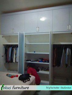 Wardrobe project @Rawamangun.  Info Fokusfurniture.com