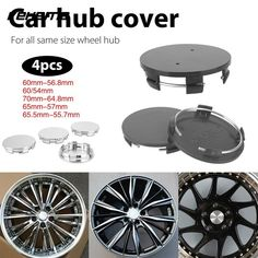 Vehemo No Logo Car Wheel Cover Hub Cap for 65.5mm-55.7mm Wheel Hub Cover Premium Wheel Center Cap