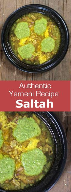 Saltah is a traditional Yemeni soup that consists of broth with meat and/or vegetables and that is topped with a fenugreek froth called hilbeh. #soup #yemen #196flavors