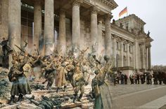 Sergey Larenkov - Blending Scenes from WWII with present day