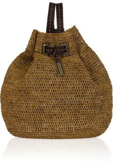 Check out the Michael Kors Santorini raffia and leather backpack on bagservant.co.uk - simple stylish chic! xx
