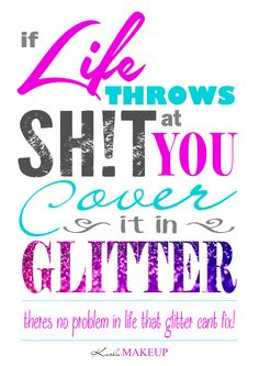 Everything's better with glitter!!