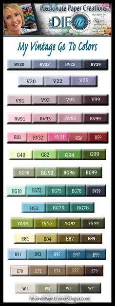 Hello! Just a quick post to share with you my favorite Vintage Color Combos.   I also have my Go To Color Combo which you can find by clic...