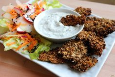 Healthy-Chicken-Nuggets-Recipe-with-a-Side-Salad-drivemehealthy.com