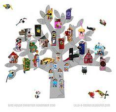 Domki dla ptaków (w tym nasze gniazdo, zrobione przez dzieci w DK Inspiro)