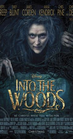 Into the Woods on DVD March 2015 starring Johnny Depp, Meryl Streep, Chris Pine, Emily Blunt. Into the Woods is a modern twist on several of the beloved Brothers Grimm fairy tales, intertwining the plots of a few choice stories and ex Meryl Streep, Disney Cinema, Disney Films, Walt Disney, Disney Family, Chris Pine, Anna Kendrick, Love Movie, Movie Tv