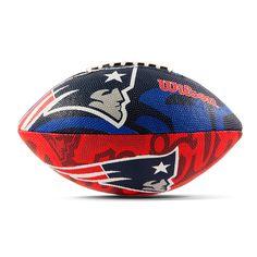 Bola de Futebol Americano NFL Logo Team Patriots