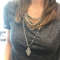 #MindyMaesMarket #DreamCloset Relic Statement Necklace & Rebel Pendant Necklace www.stelladot.com/sites/shermir112