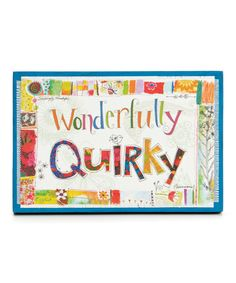 Look at this 'Wonderfully Quirky' Gallery-Wrapped Canvas on #zulily today!