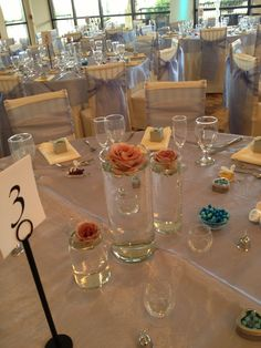 Simple wedding centerpieces by Flower Shack Blooms