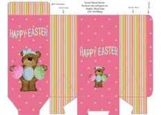 Babs Happy Easter Treat Bag on Craftsuprint designed by Rhonda Brittain - A cute treat bag ready to be filled with goodies. A quick and easy gift for someone at Easter. - Now available for download!