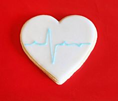 heart with a beat cookies
