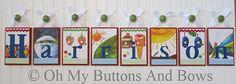 Name Blocks . Crib Letters . Nursery Decor . by OhMyButtonsAndBows