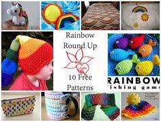 MNE Crafts: Rainbow Round Up - 10 Free Crochet Patterns