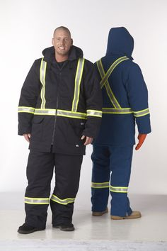 A tough flame resistant outer shell, this insulated parka features a detachable hood, 2 chest pockets, 2 lower front pockets, all with flaps and covered snap closures Bib Overalls, Work Shirts, Work Pants, Parka, Work Wear, Rain Jacket, Windbreaker, Cotton, How To Wear