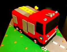 gâteau anniversaire - camion de pompier