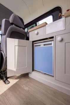This_Moving_House38 Mercedes Sprinter Camper Van, Sprinter Van, Volkswagen, Vw Bus, Vw Crafter, Red Vans, Cool Campers, Campervan Interior, Space Interiors