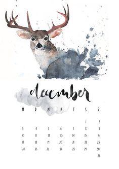 Vorbestellung Wandkalender A3 2018 Aquarell Wasserfarbe