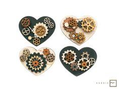 Valentine's Day DIY gift   #heart #steampunk #lasercut #ValentinesDay
