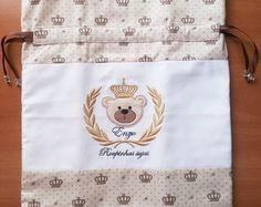 Saco para roupas sujas urso com brasão