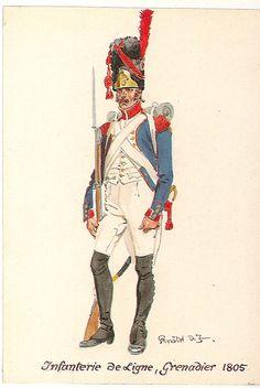 Granatiere della compagnia granatieri di un rgt. di fanteria della linea,1805
