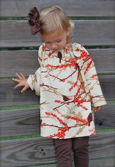 girls+FALL+peasant+dress+with+long+sleeves+in+by+wrententen,+$36.00