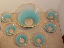 7 piece VINTAGE MID CENTURY MODERN GLASS SALAD SERVING BOWL W/ SIX SMALLER BOWLS Modern Glass, Mid-century Modern, Salad Bowls, Serving Bowls, Mid Century, Vintage, Vintage Comics, Mixing Bowls, Bowls