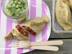 Teigtaschen mit Putenbrust und Paprika - smarter - Kalorien: 318 Kcal | Zeit: 120 min.