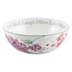 Lenox Butterfly Meadow Sentiment Serving Bowl