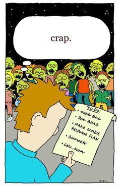 Zombie apocalypse planning
