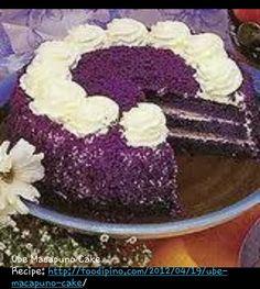 Ube macapuno cake .. favorite Filipino dessert