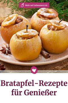 Ob klassisch oder ein bisschen ausgefallen: Bratapfel-Rezepte lassen sich leicht… Whether classic or a bit unusual: baked apple recipes are easy to prepare and taste wonderful. Here you can get tips on how to make a fruity treat out of the oven apple Apple Recipes Easy, Easy Cake Recipes, Summer Recipes, Baking Recipes, Cookie Recipes, Dessert Recipes, Quick Recipes, Casserole Recipes, Soup Recipes