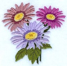 Aster - 4x4 | Floral - Flowers | Machine Embroidery Designs | SWAKembroidery.com Starbird Stock Designs