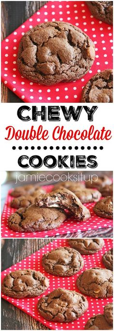 Chewy Double Chocolate Cookies from Jamie Cooks It Up