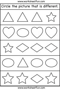 Size – Same and Different / FREE Printable Worksheets