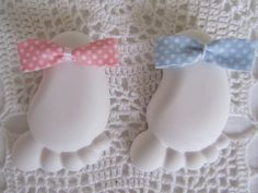 Gesso a forma di piedino per bomboniere nascita o battesimo, by ♥La casa di Gaia♥, 1,50 € su misshobby.com