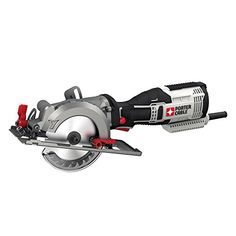 """PORTER-CABLE PCE381K 5.5 Amp 4-1/2"""" Compact Circular Saw Kit Compact Circular Saw, Circular Saw Reviews, Best Circular Saw, Cordless Circular Saw, Circular Saw Jig, Woodworking Books, Fine Woodworking, Woodworking Ideas, Steel Shoes"""