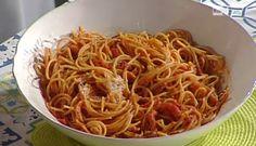 """La ricetta degli spaghetti all'Amatriciana di Anna Moroni del 5 settembreo 2016, a """"La prova del cuoco"""""""