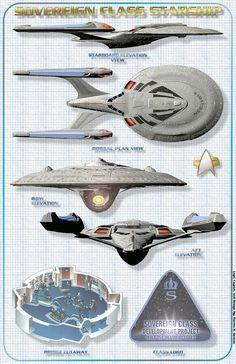 Star Trek Schematics | Sovereign Class vessel