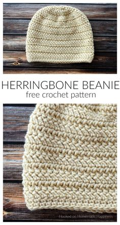 Herringbone Beanie Crochet Pattern (CAL for a Cause) | Hooked on Homemade Happiness