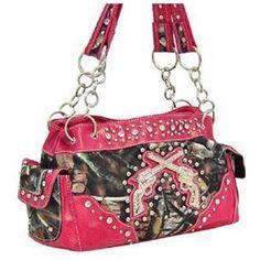 Rakuten.com:Handbags Bling and More|Hot Pink Camo Fashion Double Pistol Purse With Rhinestones|Uncategorized