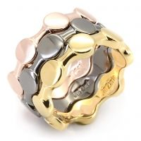Grace-In 14k gold, rose gold and hematite, this trio of rings will win you major points for style. It won't matter if you wear them together or separately-- as first, second and third place will lose all meaning once you have them in your grasp.  $58  www.jillzarinjewelry.com