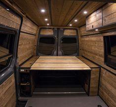 Vw Camper Conversions, Camper Van Conversion Diy, Campervan Bed, Campervan Interior, Mini Camper, Bus Camper, Vw T5, Transit Camper, Ford Transit