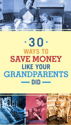 30 Ways to Save Money Like Your Grandma Did – Finance tips, saving money, budgeting planner Ways To Save Money, Money Tips, Money Saving Tips, Frugal Living Tips, Frugal Tips, Budgeting Finances, Budgeting Tips, Budget Planer, Savings Plan
